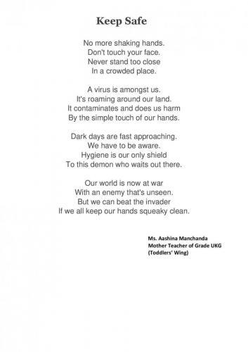 Poem by Ms. AASHINA MANCHANDA